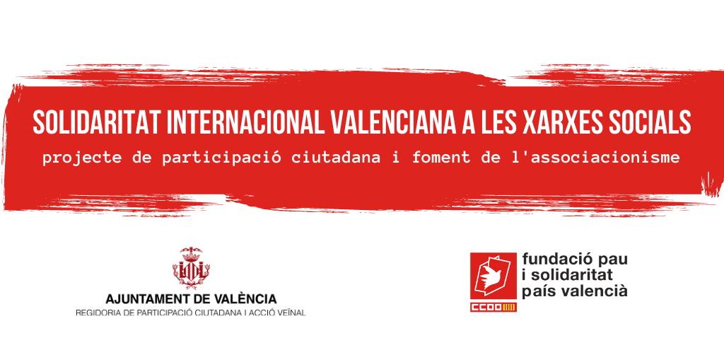 """Finalitza el projecte """"Solidaritat internacional valenciana a les xarxes socials"""" el projecte de participació ciutadana i foment de l'associacionisme"""